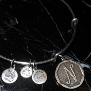 Alex And Ani Letter N Charm Retired Silver Rafaeli